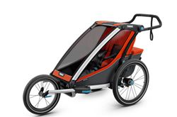 Thule Chariot Cross Bike Trailer, Stroller, and Jogger - 1 Child - Orange