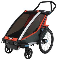 Thule Chariot Cross Bike Trailer and Stroller - 1 Child - Orange