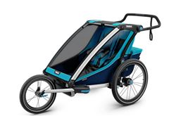Thule Chariot Cross Bike Trailer, Stroller, and Jogger - 2 Child - Blue