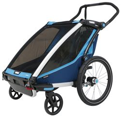 Thule Chariot Cross Bike Trailer and Stroller - 2 Child - Blue