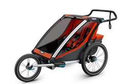 Thule Chariot Cross Bike Trailer, Stroller, and Jogger - 2 Child - Orange