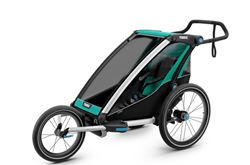 Thule Chariot Lite Bike Trailer, Stroller, and Jogger - 1 Child - Blue