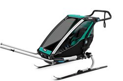 Thule Chariot Lite Bike Trailer, Hike/Ski Trailer, and Stroller - 1 Child - Blue