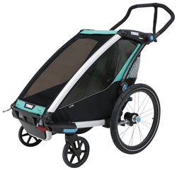 Thule Chariot Lite Bike Trailer and Stroller - 1 Child - Blue