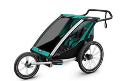 Thule Chariot Lite Bike Trailer, Stroller, and Jogger - 2 Child - Blue