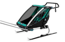 Thule Chariot Lite Bike Trailer, Hike/Ski Trailer, and Stroller - 2 Child - Blue