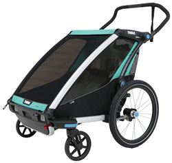 Thule Chariot Lite Bike Trailer and Stroller - 2 Child - Blue