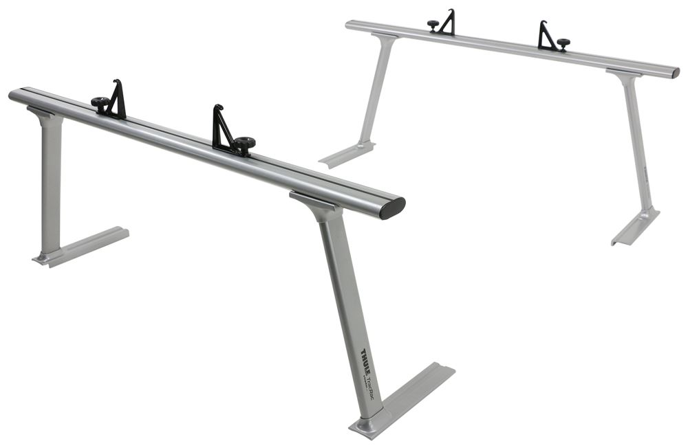 Thule TracRac TracONE Truck Bed Ladder Rack - Fixed Mount - 800 lbs - Silver 2 Bar TH27000XT