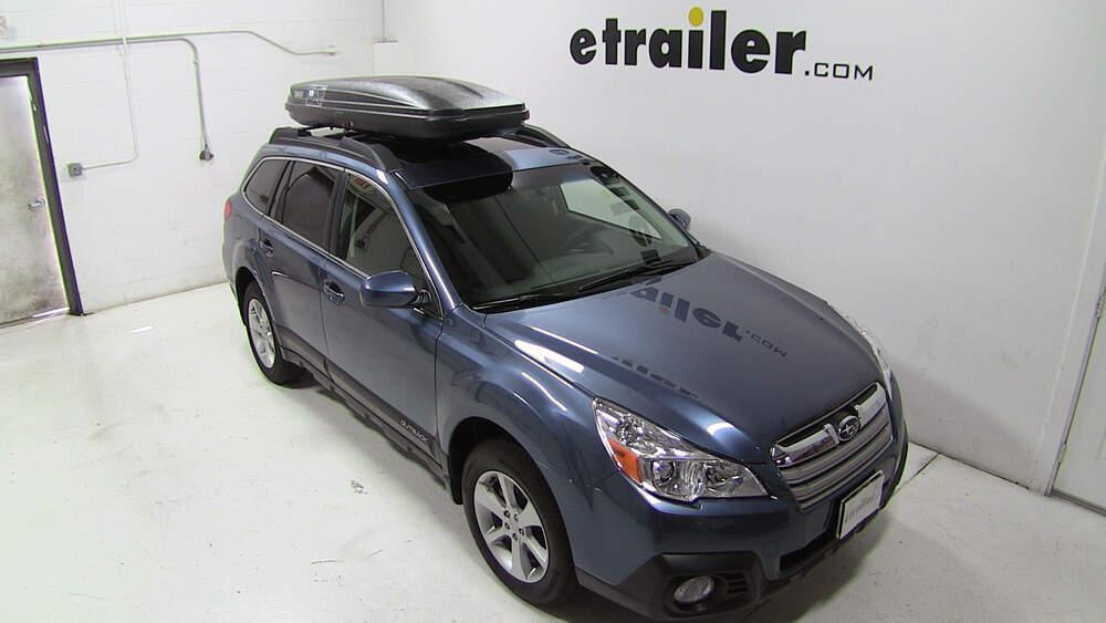 Subaru Outback Wagon Thule Pulse Alpine Rooftop Cargo Box