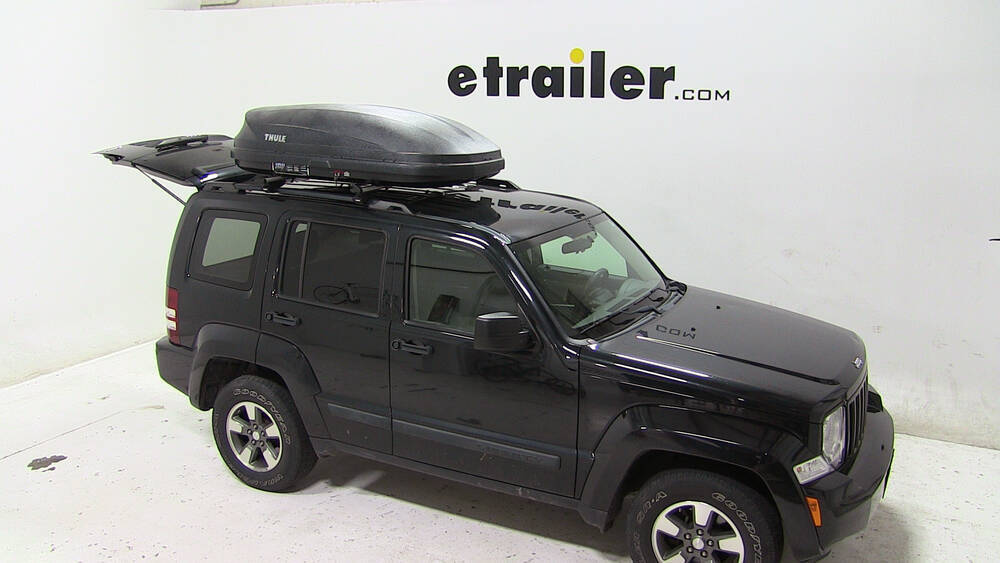 2008 jeep liberty thule pulse medium rooftop cargo box. Black Bedroom Furniture Sets. Home Design Ideas