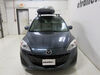 Thule Pulse Large Rooftop Cargo Box - 16 cu ft - Matte Black Medium Length TH615 on 2012 Mazda 5