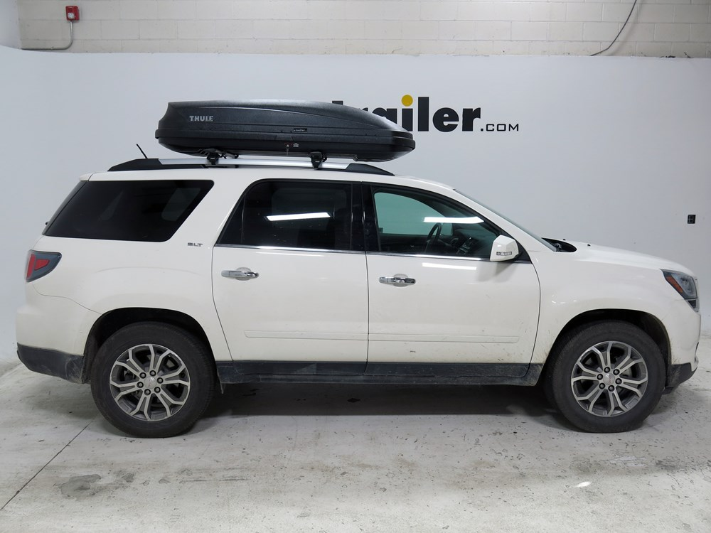 gmc acadia thule pulse large rooftop cargo box 16 cu ft matte black. Black Bedroom Furniture Sets. Home Design Ideas