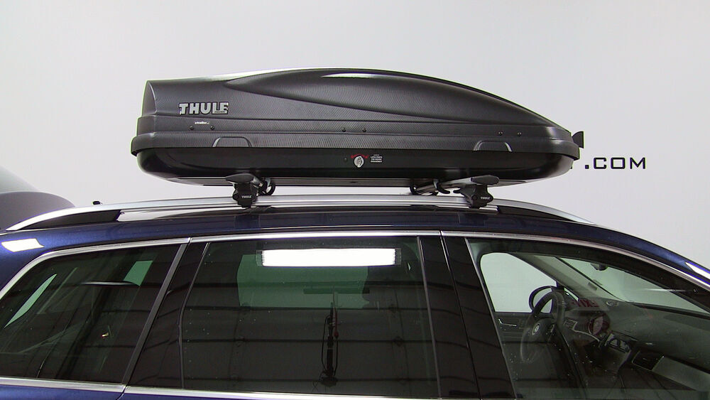 2005 Volkswagen Touareg Thule Force Medium Rooftop Cargo Box - 13 cu ft - AeroSkin Black