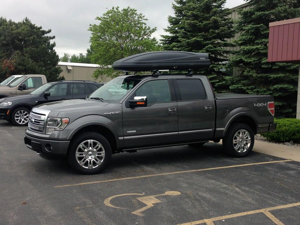 ford f 150 thule force xxl rooftop cargo box 21 cu ft aeroskin black. Black Bedroom Furniture Sets. Home Design Ideas