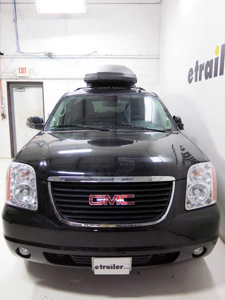 2013 gmc yukon xl thule force xxl rooftop cargo box 21 cu ft aeroskin black. Black Bedroom Furniture Sets. Home Design Ideas