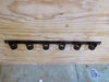 "6 Slot Tool Rack - Black Powder Coated Steel - 33-1/2"" Long 6 Tools TH6B"