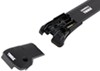 thule roof rack complete systems locks not included aeroblade edge for factory side rails - aluminum black