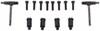 Thule AeroBlade Edge Roof Rack - Fixed Mounting Points/Flush, Factory Side Rails - Aluminum - Black Black TH7602B-TH7602B