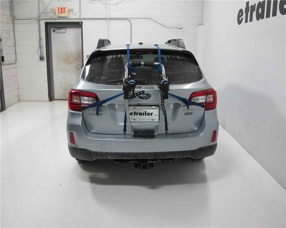 2015 subaru outback wagon thule archway xt 2 bike rack trunk mount adjustable arms. Black Bedroom Furniture Sets. Home Design Ideas
