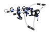 thule trunk bike racks frame mount - anti-sway adjustable arms archway xt 3-bike rack