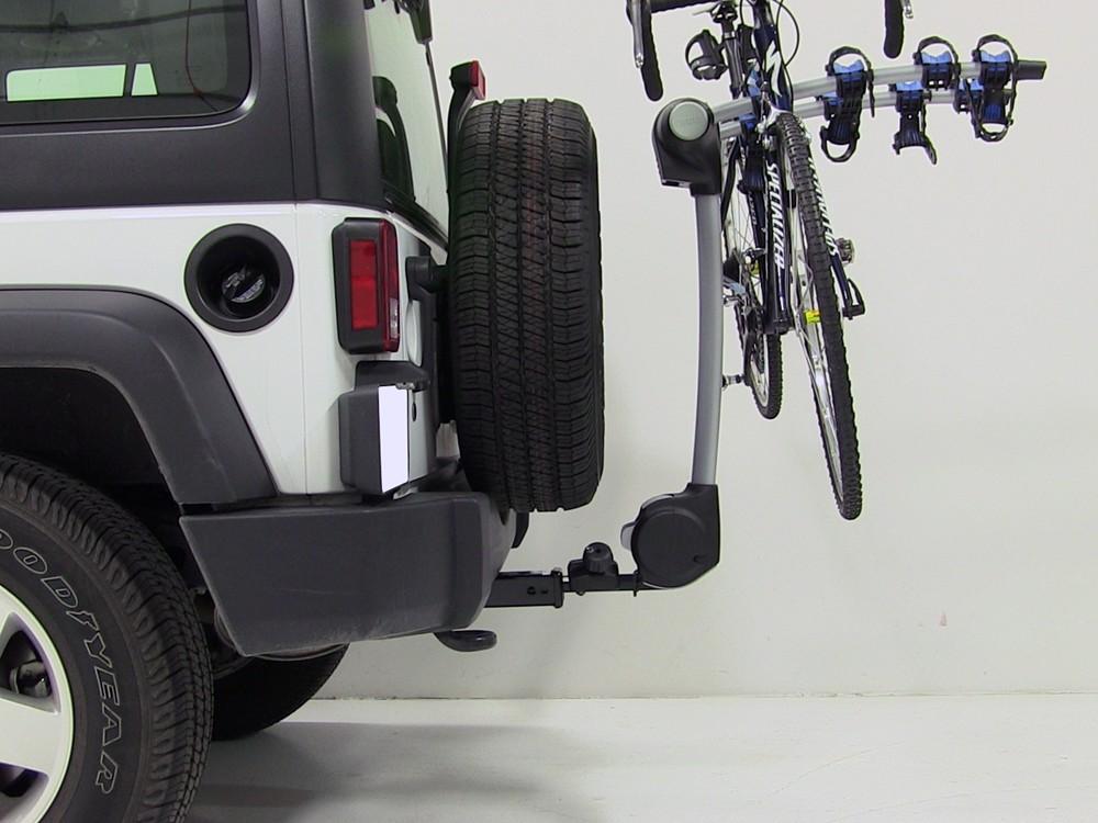 jeep wrangler thule apex 4 bike rack for 1 1 4 and 2. Black Bedroom Furniture Sets. Home Design Ideas