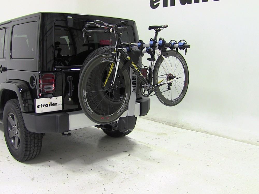 2012 jeep wrangler unlimited thule apex 4 bike rack for 1. Black Bedroom Furniture Sets. Home Design Ideas