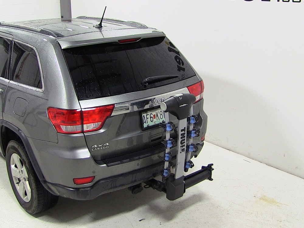 1997 jeep grand cherokee thule apex swing 4 bike rack for 2 hitches swinging. Black Bedroom Furniture Sets. Home Design Ideas