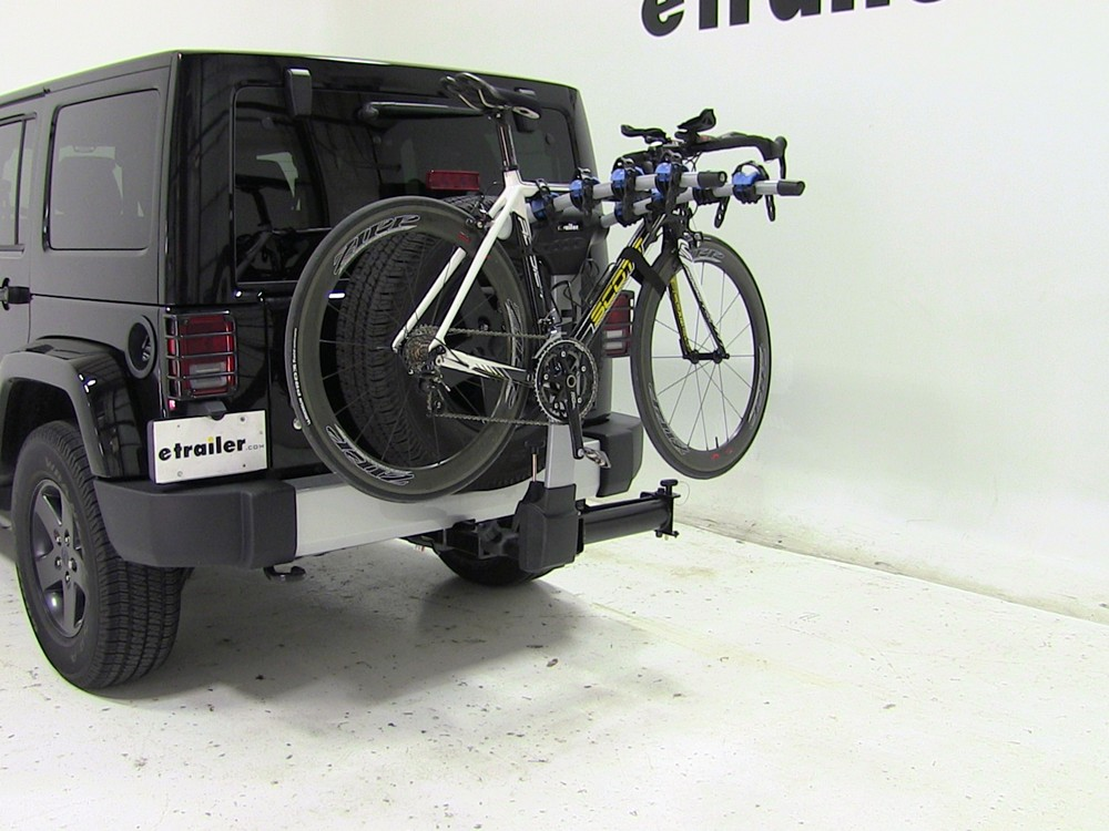 Jeep Wrangler Thule Apex Swing 4 Bike Rack For 2 Quot Hitches
