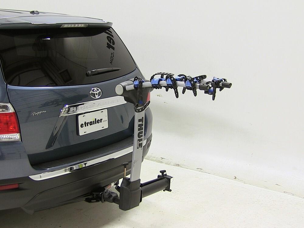 2012 toyota highlander thule apex swing 4 bike rack for 2. Black Bedroom Furniture Sets. Home Design Ideas