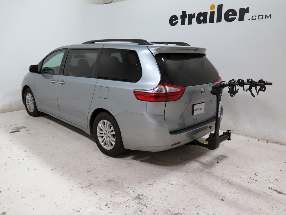 2016 toyota sienna thule vertex swing 4 bike rack 2 hitches swinging. Black Bedroom Furniture Sets. Home Design Ideas
