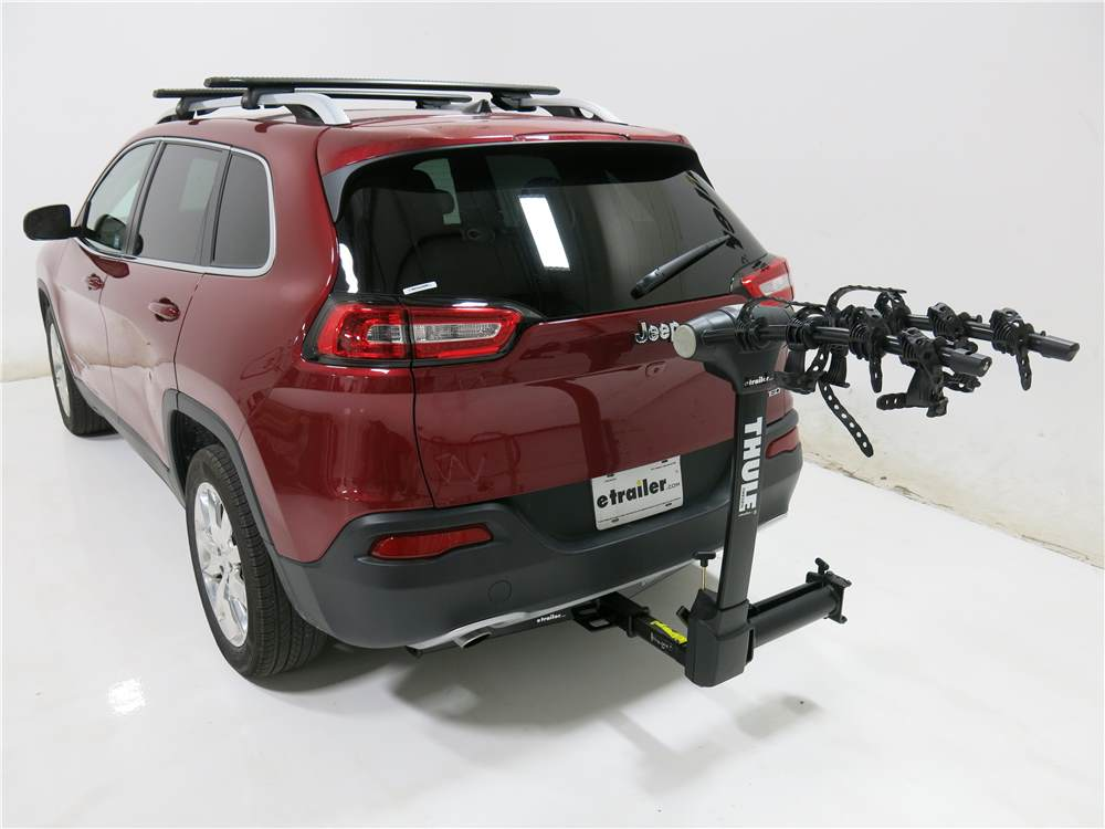 2017 jeep cherokee thule vertex swing 4 bike rack 2 hitches swinging. Black Bedroom Furniture Sets. Home Design Ideas