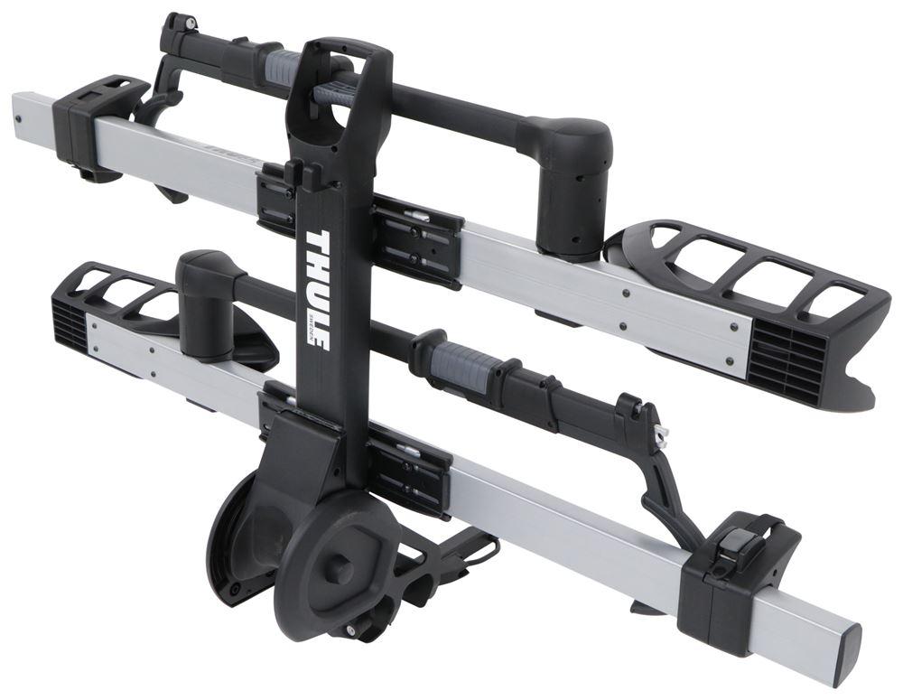 thule t2 pro xts 2 bike platform rack 1 1 4 hitches tilting silver thule hitch bike racks. Black Bedroom Furniture Sets. Home Design Ideas