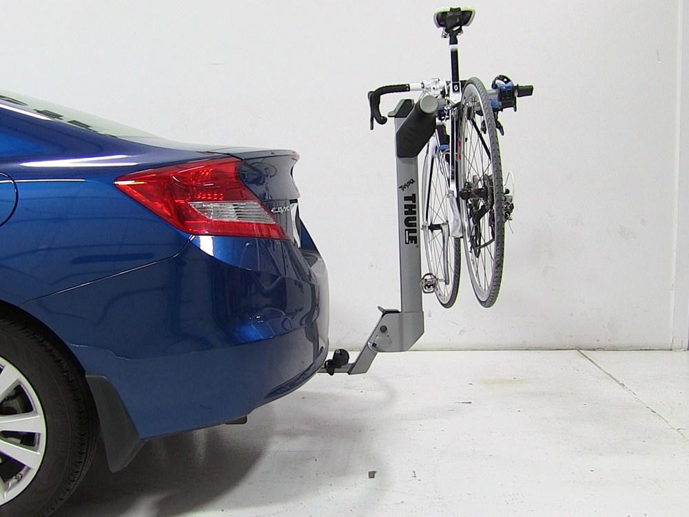 honda civic thule helium aero  bike rack     hitches tilting aluminum
