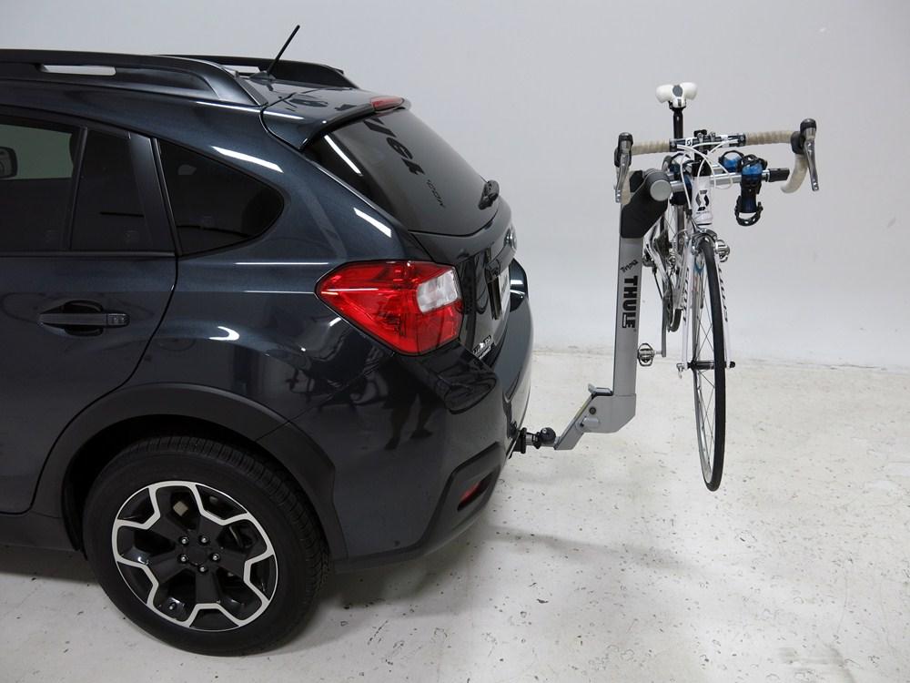 Subaru xv crosstrek thule helium aero 2 bike rack 1 1 4 for Cross country motor club subaru