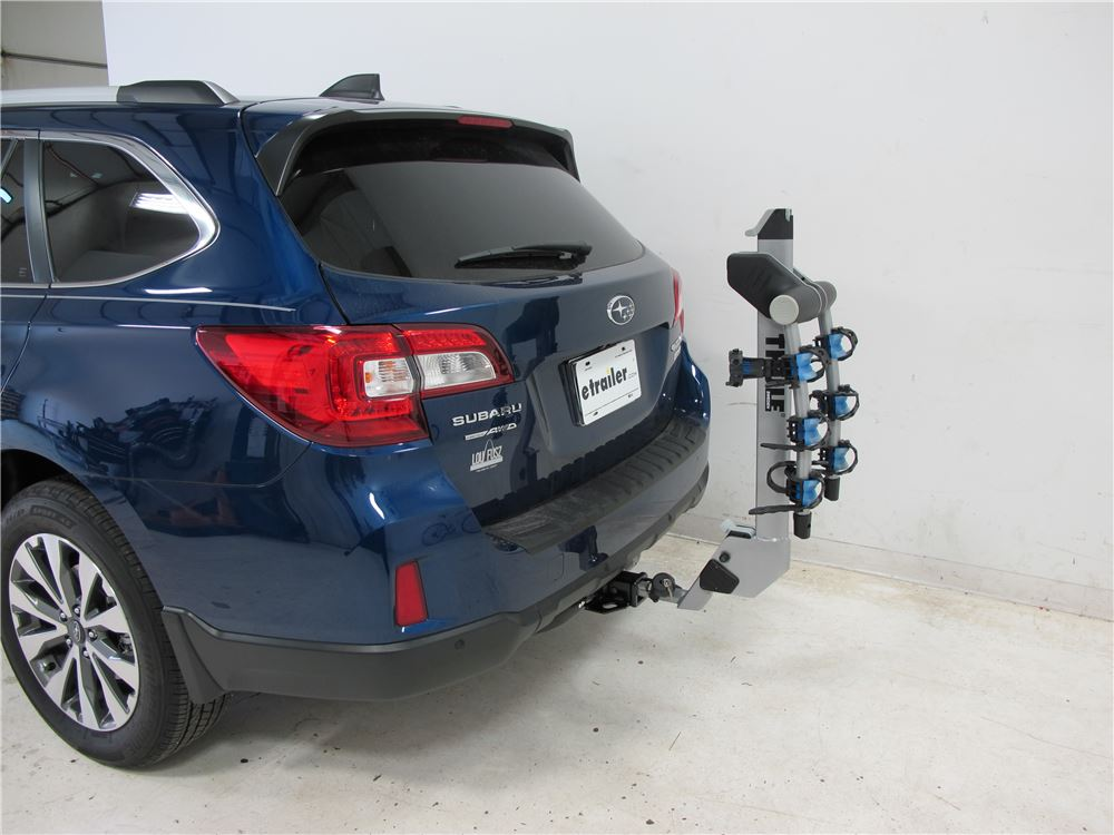 2015 subaru outback wagon thule helium aero 3 bike rack 1 1 4 and 2 hitches tilting aluminum. Black Bedroom Furniture Sets. Home Design Ideas