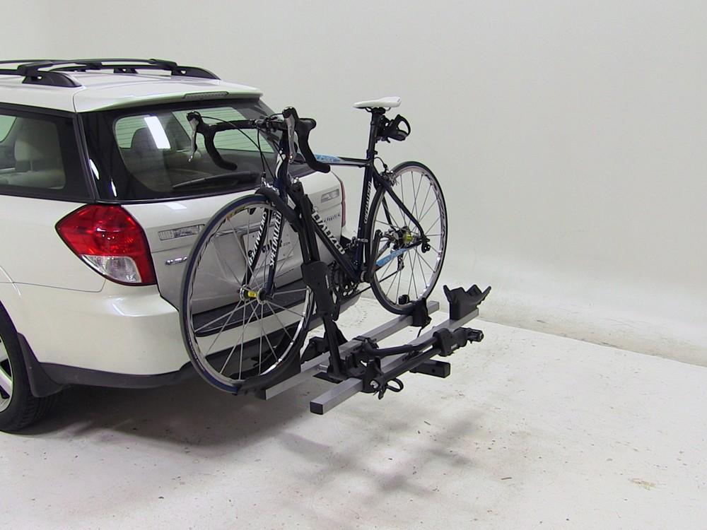 subaru outback wagon thule   bike rack platform style tilting  hitches