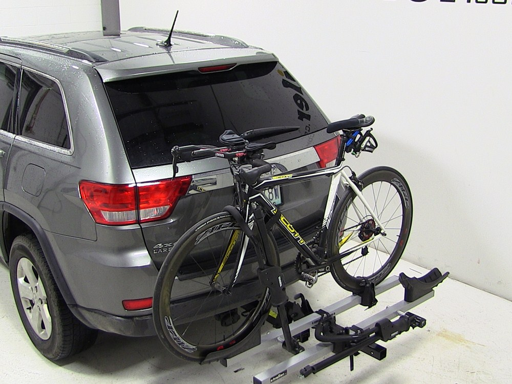jeep grand cherokee thule t2 2 bike rack platform style. Black Bedroom Furniture Sets. Home Design Ideas