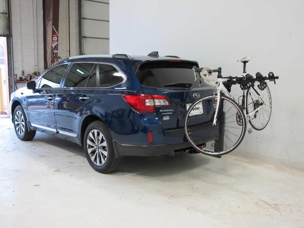 2017 subaru outback wagon thule hitching post pro folding tilting 4 bike rack w anti sway 1. Black Bedroom Furniture Sets. Home Design Ideas