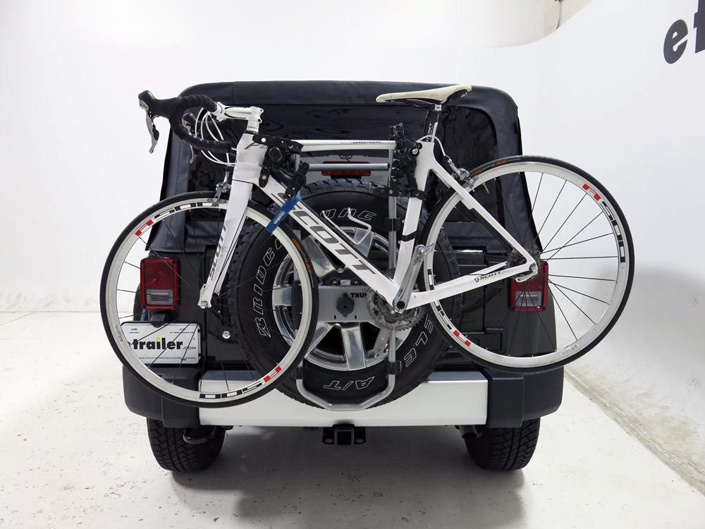 2015 Jeep Wrangler Unlimited Spare Tire Bike Racks Thule