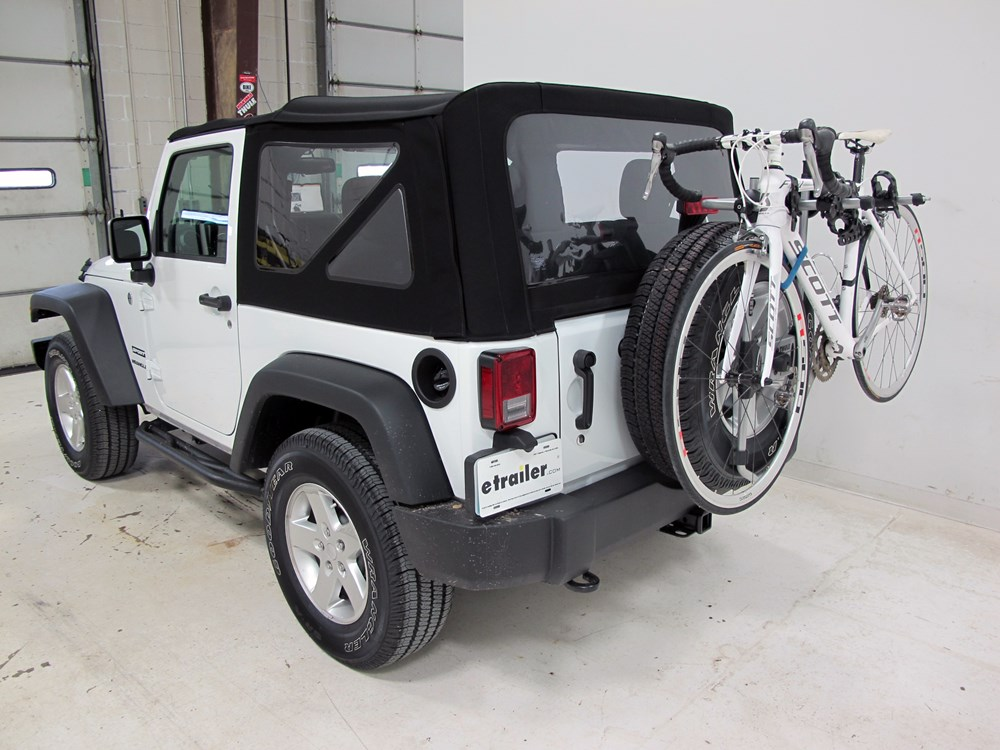 2016 Jeep Wrangler Thule Spare Me 2 Bike Rack Spare Tire