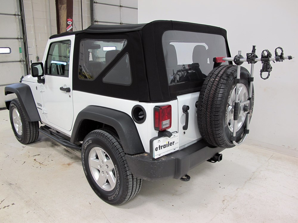 2016 jeep wrangler thule spare me 2 bike rack spare tire. Black Bedroom Furniture Sets. Home Design Ideas