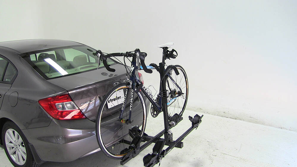 honda civic thule doubletrack platform style  bike rack      hitches hitch