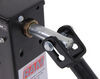 "Square Direct Weld Jack w/ Crank - Drop Leg w/ Spring Return - Sidewind - 25-3/4"" Lift - 10K Weld-On TJD-12000SP-R2"
