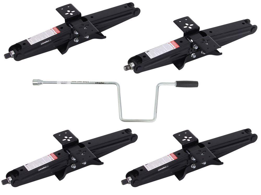 """Scissor Stabilizer Jacks w/ Handle - 18-3/4"""" Lift - 10,000 lbs - Qty 4 TJSCHD-24-4"""