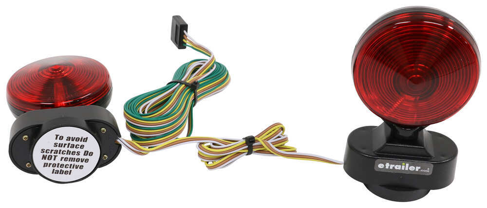 heavy duty magnetic tow lights - 20' wiring harness with 4-way flat trailer  connector optronics tow bar wiring tl21rk