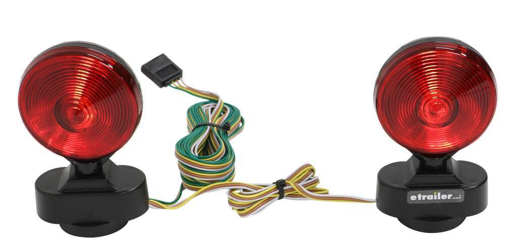 Heavy Duty Magnetic Tow Lights - 20' Wiring Harness with 4-Way Flat on