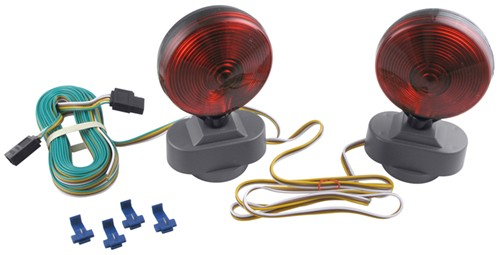 optronics tow bar wiring universal magnetic mount heavy duty lights - 20' harness with 4-way flat trailer connector