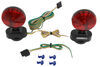 Heavy Duty Magnetic Tow Lights - 20' Wiring Harness with 4-Way Flat Trailer Connector