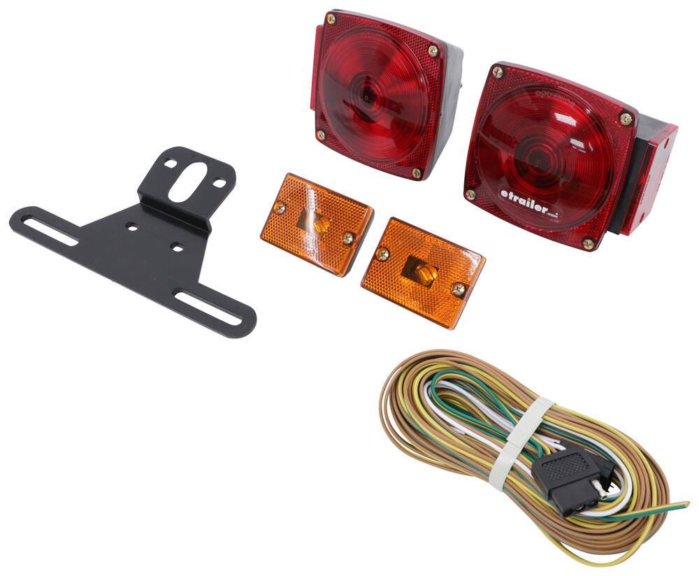 Standard Trailer Light Kit With 25 Wire Harness Optronics Circuit To Convert The Two Tail One Side Marker Lights Tl29bk