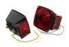 """Submersible, Under 80"""" Trailer Light Kit with 25' Wiring Harness Submersible Lights TL5RK"""